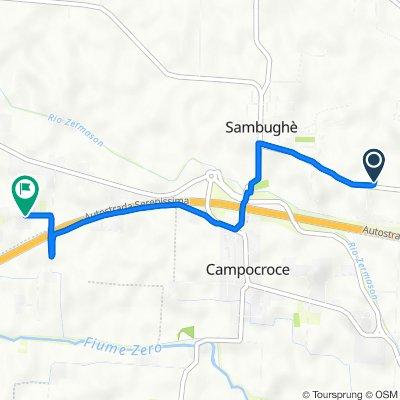 Da Via Sambughe' 74, Preganziol a Via Malcanton 8/A, Mogliano Veneto