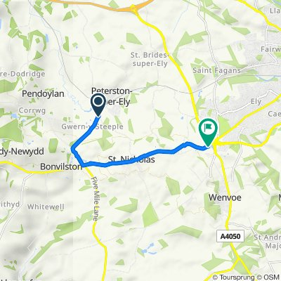 Chapel Lane, Peterston-super-Ely to Culverhouse Cross