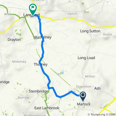 47 North St, Martock to Moorfield House, The Hill, Langport
