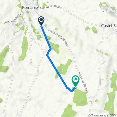 Itinéraire à partir de 80 Rue des Quercus, Pomarez