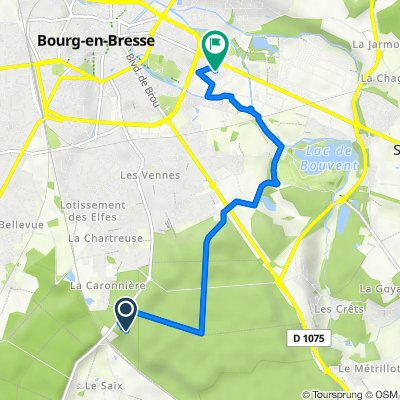 Itinéraire vers 62 Rue de Pennessuy, Bourg-en-Bresse
