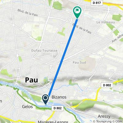 De 37–49 Avenue de l'Yser, Gelos a 18 Rue Monseigneur Campo, Pau