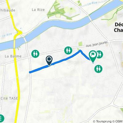 11 Rue Galilée, Décines-Charpieu to 8 Allée des Fleurs, Décines-Charpieu