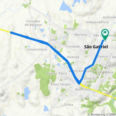 De Rua Alfredo B Pereira, São Gabriel a Rua Abel Correa da Silva, 181, São Gabriel