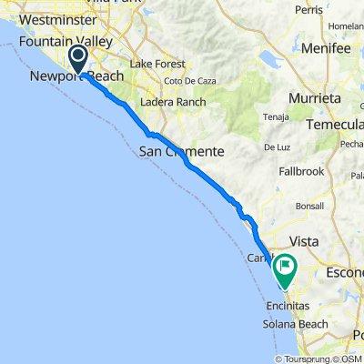 2300 W Coast Hwy, Newport Beach to 1475 Hymettus Ave, Encinitas