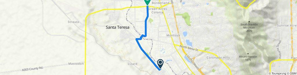 113 Fir Ct, Sunland Park to 6215 Upper Valley Rd, El Paso