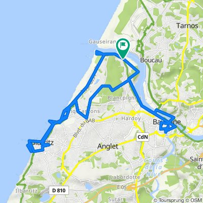 Anglet-Bayonne-Biarritz (Boucle)