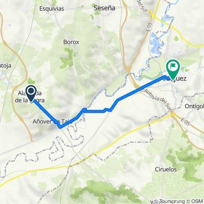 De Calle Alameda 16, Alameda de la Sagra a Calle de Stuart 150, Aranjuez