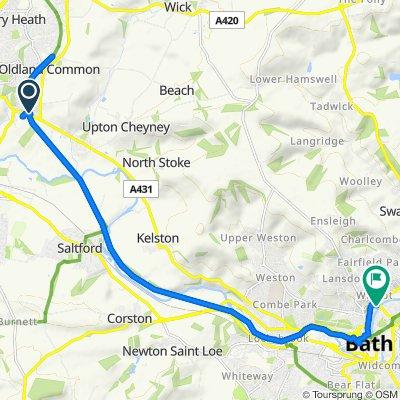 Bitton Station, Bath Road, Bristol to 6, Cleveland Pl West, Bath