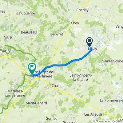 De 18 Rue du Parc, Lezay à 11 Rue Guillotière, Melle