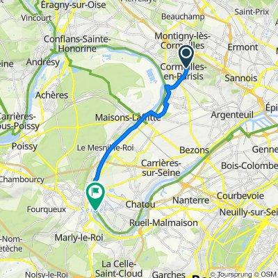 De 131 Rue Gabriel Péri, Cormeillesy j'y -en Ju j'-youth Parisis à Chemin de Halage, Croissy-sur-Seine