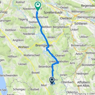 Hauacker 24, Aristau nach Haufroosstrasse 16, Oberrohrdorf