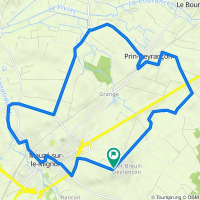 De 10–17 Route de Mauzé, Mauzé-sur-le-Mignon à 18 Route de Mauzé, Mauzé-sur-le-Mignon
