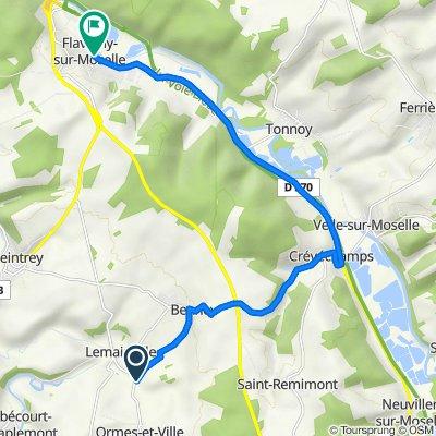 De Le Poncet, Ormes-et-Ville à Rue du Doyen Jacques Parisot 17, Flavigny-sur-Moselle