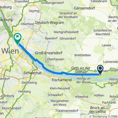 Route nach Reichsbrücke, Wien