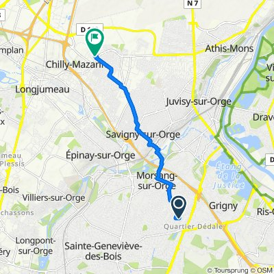 De 44 Avenue des Hêtres, Viry-Châtillon à 43 Avenue Charles de Gaulle, Chilly-Mazarin