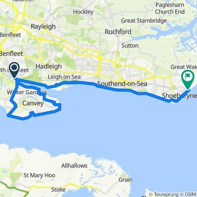 Benfleet, Canvey Island, Leigh, Shoeburyness