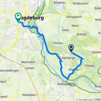 Route nach Wilhelm-Kobelt-Straße 27, Magdeburg