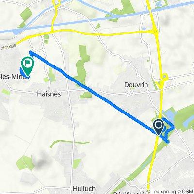 De Chemin du Marais, Hulluch à 70 Résidence Raymond Devos, Auchy-les-Mines