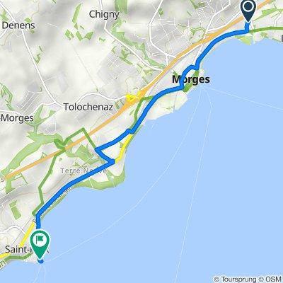 De Chemin du Bief 9, Lonay à Quai du Suchet 3A–7, St-Prex