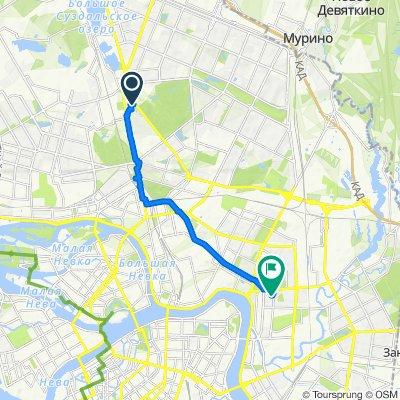 От проспект Тореза, 112к2литБ, Санкт-Петербург до проспект Металлистов, 62, Санкт-Петербург