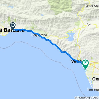 Route to 1414 Angler Ct, Ventura