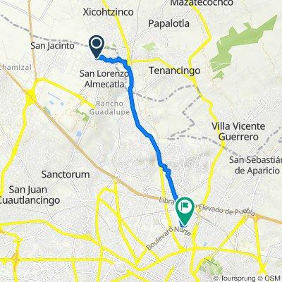 De Privada Tacana 25, Cuautlancingo a Calle 23 N 6606, Puebla