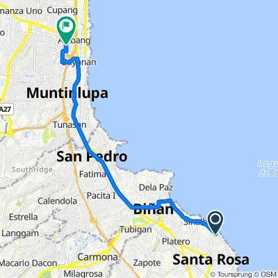 Brgy Sinalhan 42, Santa Rosa to Alabang, Muntinlupa