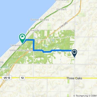 16486 Three Oaks Rd, Three Oaks to 9601–9613 Berrien St, Union Pier