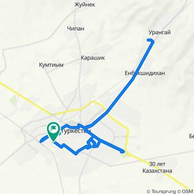 От Unnamed Road, Туркестан до Unnamed Road, Туркестан
