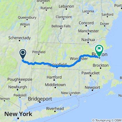 41 Lisa Ln, Athens to North St, Boston