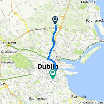 Swords Road, Swords to 71–97 Waterloo Lane, Dublin 4
