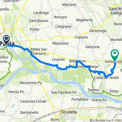 Da Corso Strada Nuova 19a, Pavia a Via Vittorio Veneto 121, Santa Cristina e Bissone