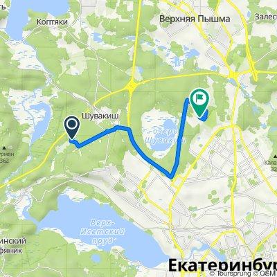 От Свердловская область, Железнодорожный до Unnamed Road, Екатеринбург