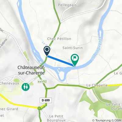 Itinéraire à partir de 7–17 Avenue des Quinze Ponts, Châteauneuf-sur-Charente