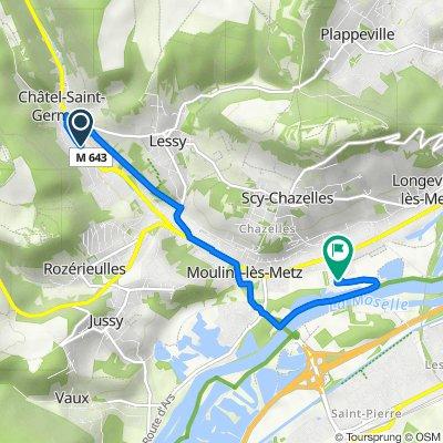 De 9 Rue de Verdun, Châtel-Saint-Germain à 46–56 Rue de l'Étang, Scy-Chazelles