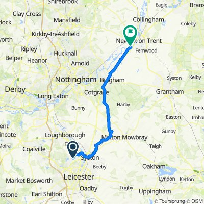 8 Lanesborough Dr, Leicester to 2–14 North End, Farndon, Newark