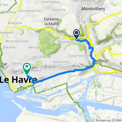 De D6382, Le Havre à Rue du Général Sarrail 87, Le Havre