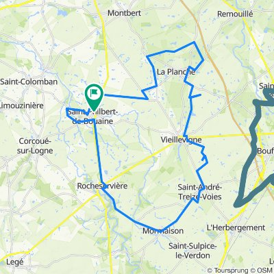 De Allée du Rayon d'Or 2, Saint-Philbert-de-Bouaine à Allée du Rayon d'Or 2, Saint-Philbert-de-Bouaine