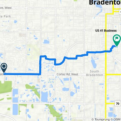 Cortez Road West 7024, Bradenton to 27th Avenue West 701, Bradenton