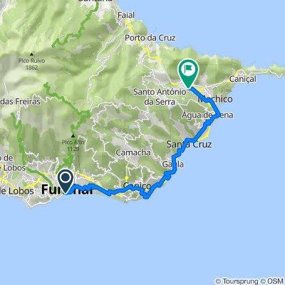 De Avenida do Mar e das Comunidades Madeirenses 1, Funchal a ER108 194, Machico