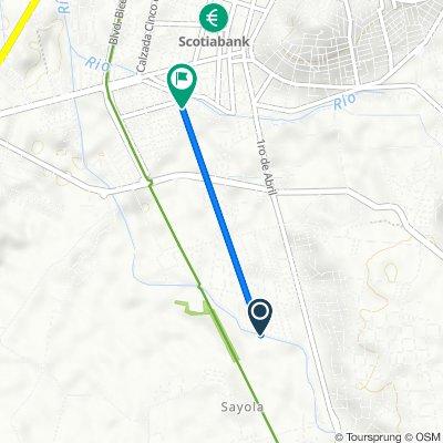 De Calle Cerezo 17–33, Santiago Tulantepec de Lugo Guerrero a Calle Juventino Rosas 110, Tulancingo