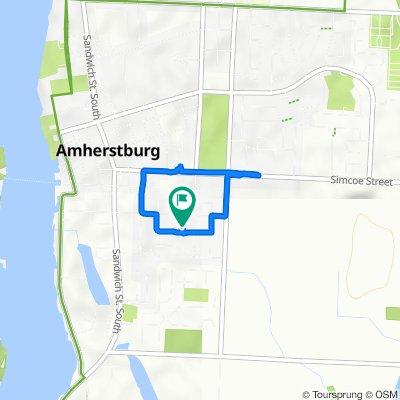Hawthorn Crescent 286, Amherstburg to Hawthorn Crescent 276, Amherstburg