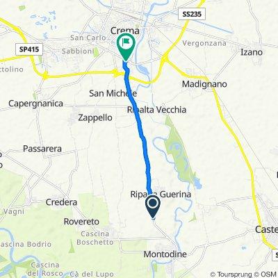 Strada Provinciale 591 ex SS 591 10-12, Montodine to Via Visconti 1961, Crema