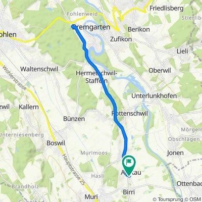 Käsereistrasse 1, Aristau nach Moosweg 1, Aristau