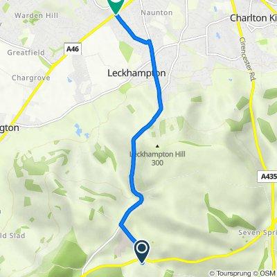 A436, Ullenwood, Cheltenham to Waterford Court, Moorend Park Road, Cheltenham