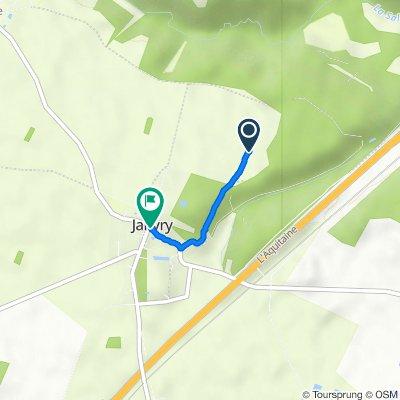 Itinéraire vers 1 Place de l'Église, Janvry