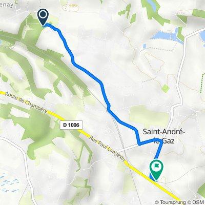 De 1–43 Chemin des Vaudrines, Saint-Didier-de-la-Tour à 24–28 Rue Victor Hugo, Saint-André-le-Gaz
