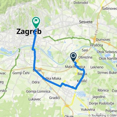 Kosnica, nadvožnjak, Velika Kosnica to Voćarska cesta 21, Zagreb