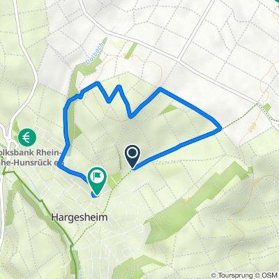 Kirchstraße, Hargesheim nach Ostpreussenstraße 14, Hargesheim
